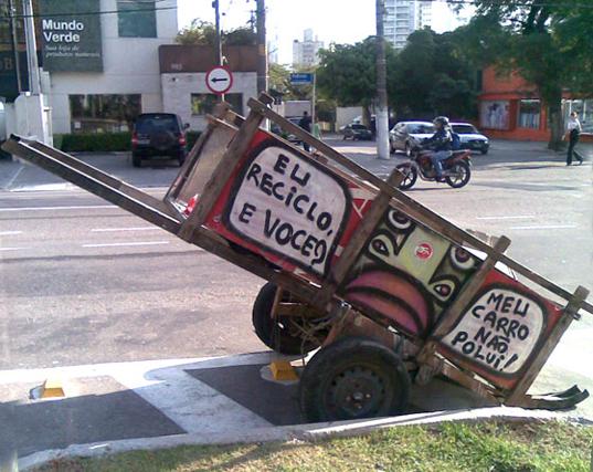 carrinho de lixo