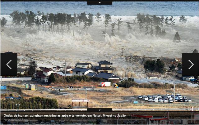 lixo do tsunami