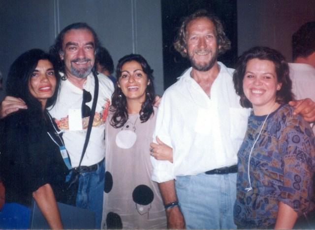 da esquerda para direita, Melania, Élo Maia, Tereza, José Wolf e Gloria Bayeux, 1992
